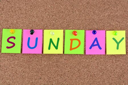 facilitate: Sunday word on colorful notes Stock Photo
