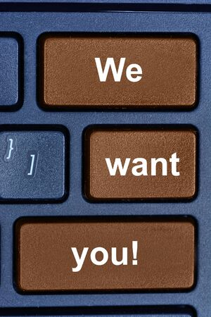 responsibility survey: We want you words on computer keyboard button