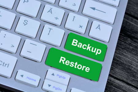 Backup Restore on computer keyboard buttons