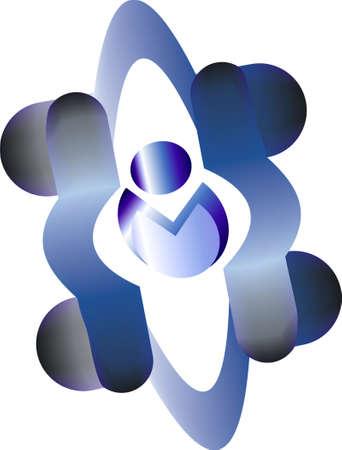 Blue Race car logo Vector