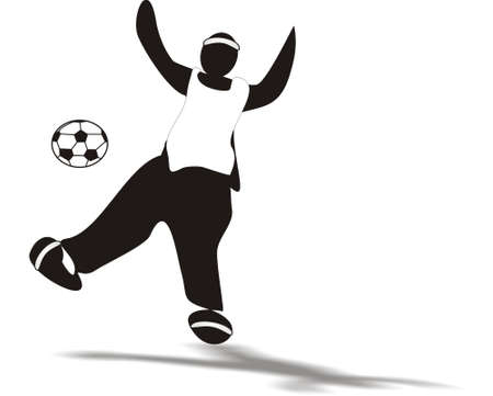 odds: Silhouette of player kicking ball into the air