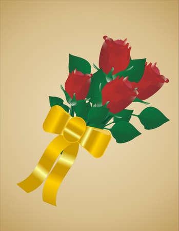ゴールドの背景に我々 が愛するのためにバラ 写真素材 - 3800993