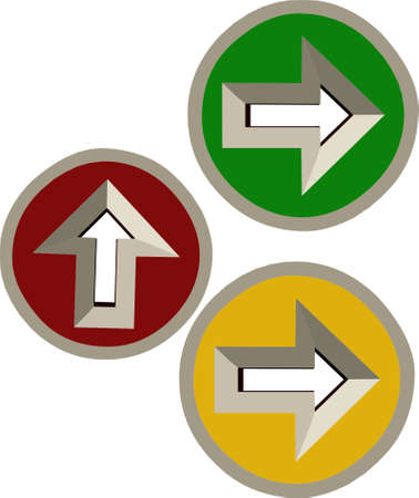 3D directional arrows depicting decisions and directions
