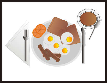 Healthy and  nutritious  meal to start the day Vector