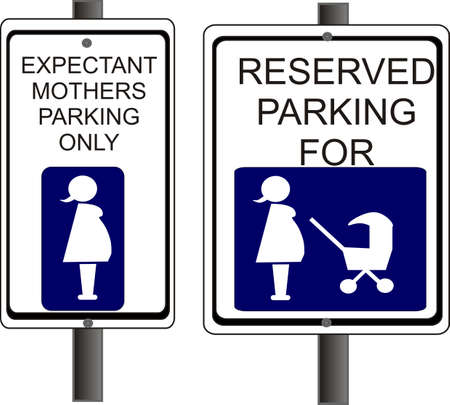 expectant: parking signs for Expectant and new parents