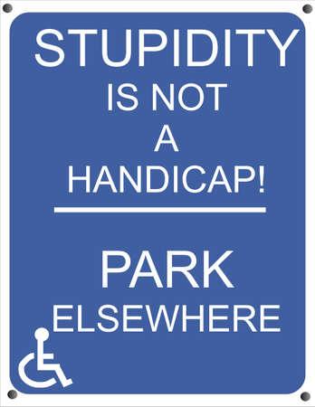 핸디캡: Handicap sign for those who, park, and have no permit to do so