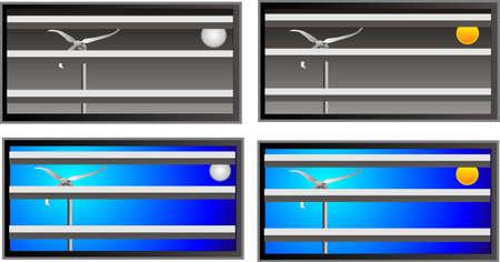potentiality: Mirando a trav�s de la ventana en la turbina de poderes que nosotros .. juego de 4