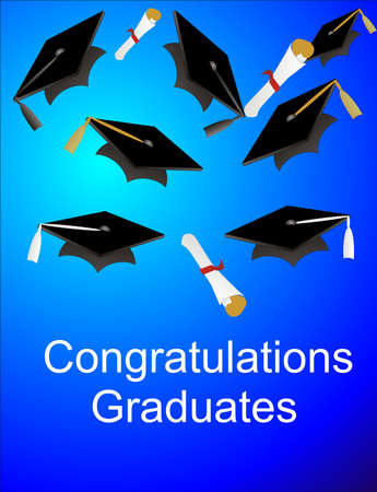 congratulations graduates Stock Vector - 3971274