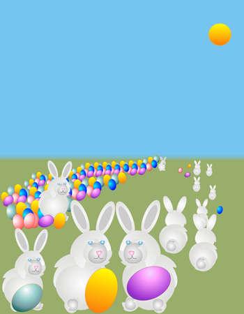 バニーは、イースター ハントのための卵を非表示にするレースを議論.