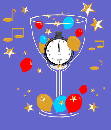 New Years cheers in time.. Stock Vector - 4017580