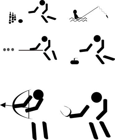 rod sign: fun sports pictograms
