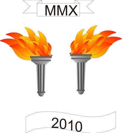 ancient olympic games: Olympic torches