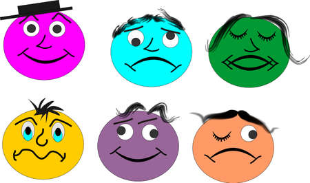 illustration of funny and sassy faces Stock Vector - 4072668