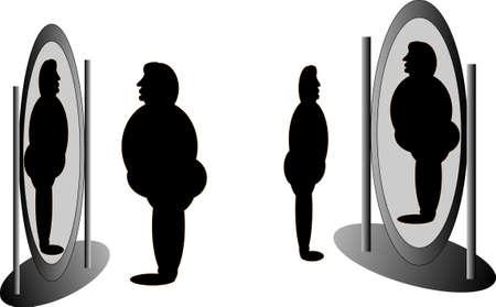 wahrnehmung: Spiegel, die sagen alle, �ber was wir oder nicht aussehen...  Illustration