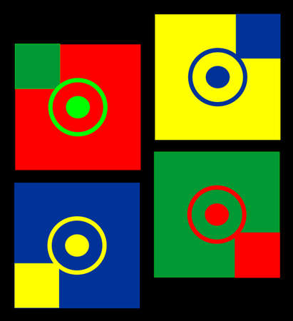 Great coloured design for  a multitude of uses, simple in design, but complex in nature.. Vector