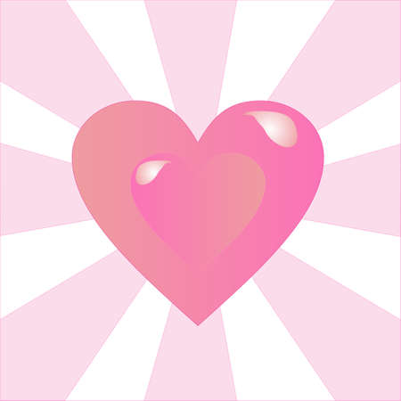 Heart sending out love rays to all.. 일러스트
