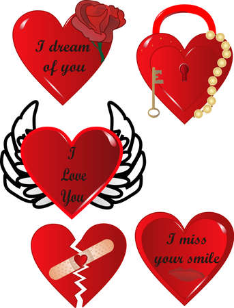 Saying it from your Heart, with expressions of love for Valentines, Anniversaries,weddings and more.. Vector