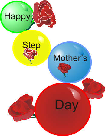 Happy Step Mothers Day for our Special Mom Vector