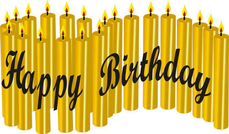 21 Happy Birthday candles 일러스트