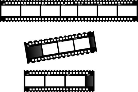 3 film strips-film strip frames...  Stockfoto - 4225237