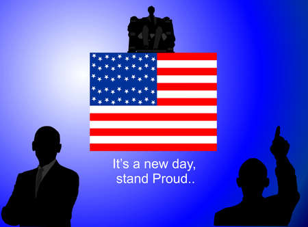 Its a New day , new beginnings, stand Proud Vector