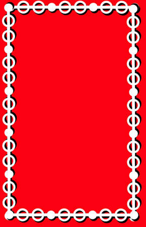 Black and white circles and lines on a red background Stock Vector - 4272611