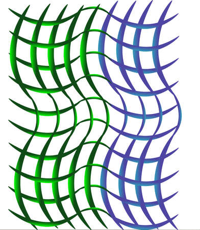 Woven blue and green background for scrapbooking or background usage..
