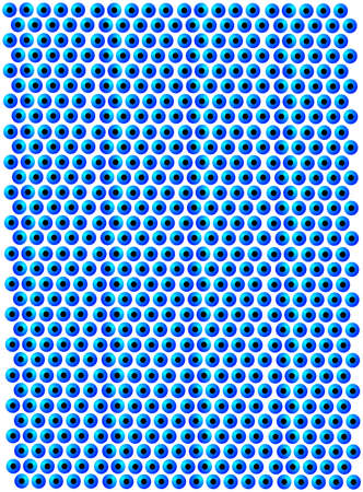 gazing: Abstract eyeball wallpaper illustration, blue,  and unique Illustration