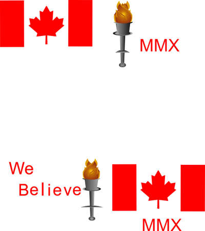 Canadians believing in Canadians, standing tall, strong and Proud... Vector