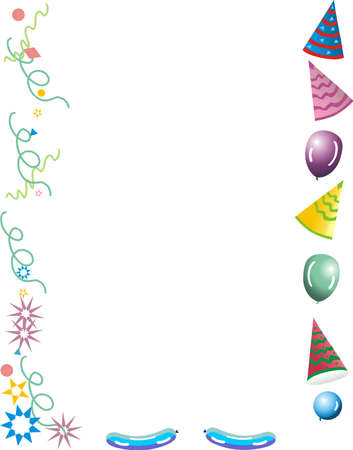 Celebrations of all kinds with balloons and streamers Vector
