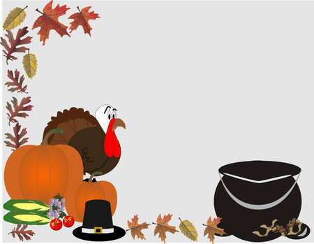 harvests: Fall harvests and a turkey for celebrations of Thanksgiving