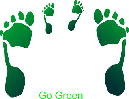 Teaching our young about go green; raising them to be environmentally friendly.. save the earth.. Vector