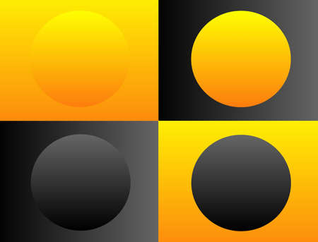 Simplicity of circles and squares put together forming a pattern for use as logo, background and so on... Çizim