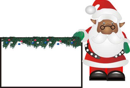 saint nick: Afro-Santa in possesso di un segno per voi a scrivere ..