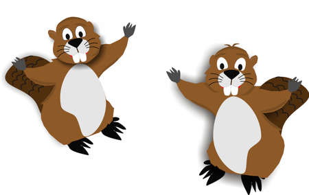 Two beavers with open arms, welcoming you...