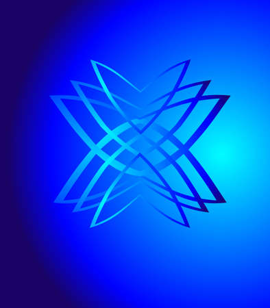 inverted: blue gradients on bluish background, creating an optical  design