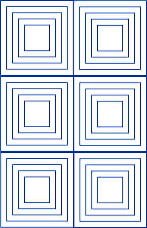 fallacy: Grouping of squares forming a vector visual illusion in a seamless repeat pattern illustration background.