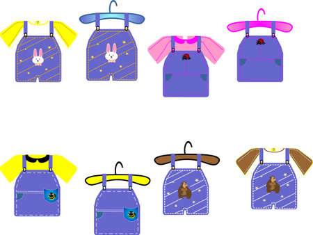 Childrens  clothing for boys and girls, great for cards, clip art and scrapbooking etc... Vector