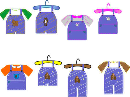 Kids clothing for boys and girls, great for cards, clip art and scrapbooking etc... Vector