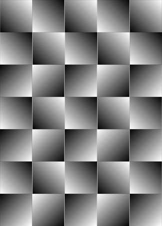 Groepering van vierkanten vormen een visuele illusie, waardoor voor naadloze achtergrond afbeelding achtergrond. Stock Illustratie