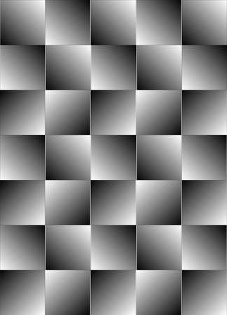 gray pattern: Grouping of squares forming a visual illusion, allowing for seamless wallpaper illustration background.