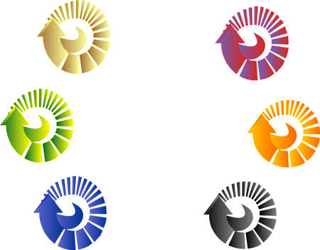 diminishing point: Arrows in a circular design showing start to finish can be utilized for many  ideas.....