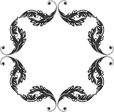 Meditationsretreats Gruppierung von Victorian führt einen Bildlauf um zu bilden ein Frame-Design..... Standard-Bild - 4449869