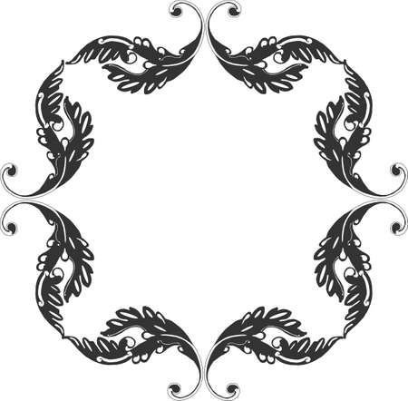 Ornate grouping of Victorian scrolls to form a frame design.....