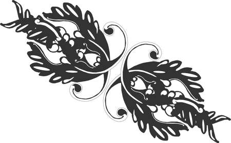 Ornate grouping of Victorian scrolls tp create a line like designs.....