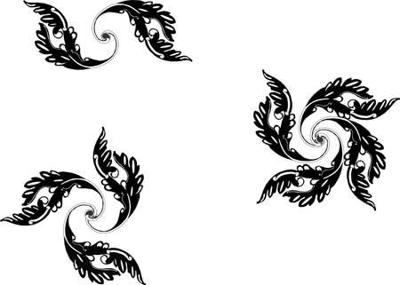 Ornate grouping of spiral  Victorian scroll like designs..... Stock Vector - 4449871