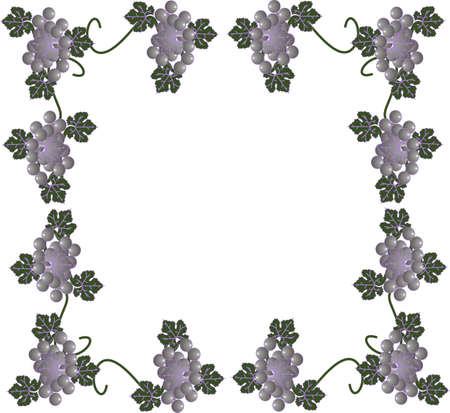 Grapes and vines forming a victorian style border frame, great for scrap booking and much more..