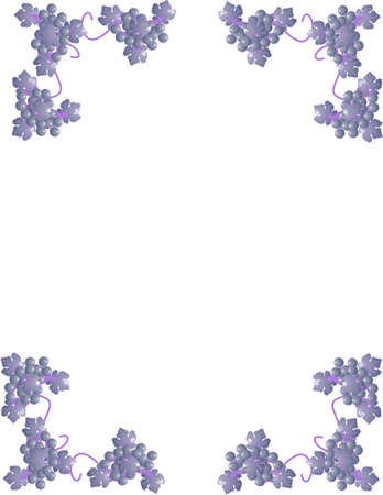 belle: grapes and vines forming corners and can be used as frames, stationary and more...