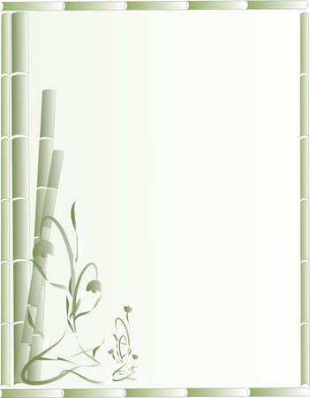 Groene bamboe en sierlijke bloemen maken van een mooie achtergrond, stationaire ontwerp of voor andere toepassingen ..