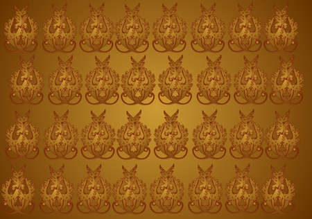 Gold and Burgundy  seamless and tileable background 向量圖像